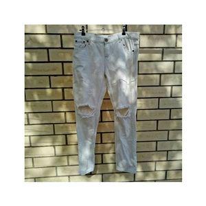 One Teaspoon White Distressed Denim Jeans